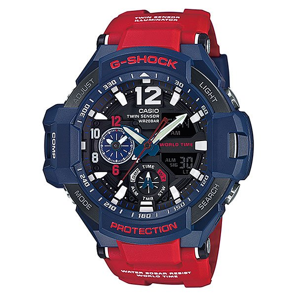 Часы Casio G-Shock Ga-1100-2a Red/Blue piaget часы piaget g0a39110