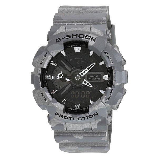 Часы Casio G-Shock Ga-110cm-8a GreyХарактеристики: Светодиодная подсветка дисплея и стрелок. Ударопрочная конструкция защищает от ударов и вибрации. Функция мирового времени.Отображение времени: аналоговый + цифровой, формат 12/24 часа, секундная стрелка отсутствует.Таймер с минутной точностью и автоповтором. 5 ежедневных будильников, сигнал каждый час. Включение/выключение звука кнопок.   Индикатор запаса хода, второй часовой пояс, будильник. Вечный календарь, число, месяц, день недели.Прочное, устойчивое к царапинам минеральное стекло защищает часы от повреждений.Корпус из полимерного пластика и нержавеющей стали. Ремешок из полимерного материала. Водонепроницаемость (20 Бар/200 м). Защитная функция антимагнит – элемент питания CR1220.<br><br>Цвет: серый<br>Тип: Кварцевые часы<br>Возраст: Взрослый<br>Пол: Мужской