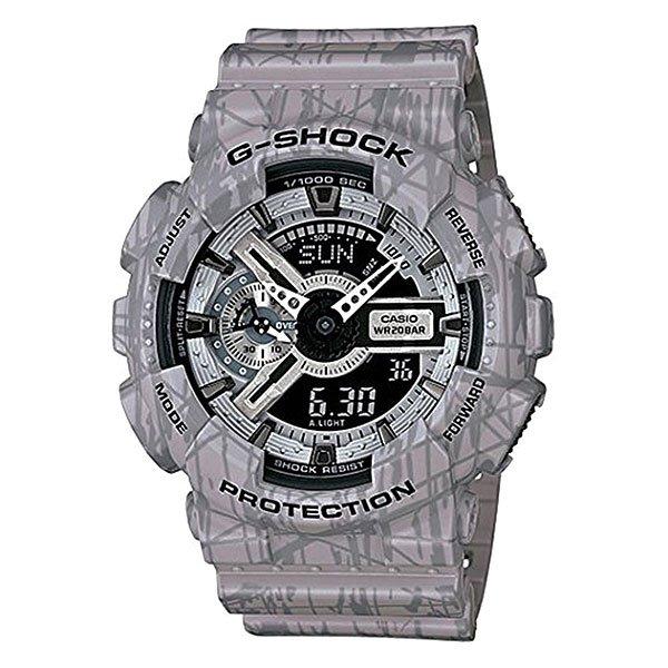 Часы Casio G-Shock Ga-110sl-8a GreyХарактеристики: Светодиодная подсветка дисплея и стрелок. Ударопрочная конструкция защищает от ударов и вибрации. Функция мирового времени.Отображение времени: аналоговый + цифровой, формат 12/24 часа, секундная стрелка отсутствует.Таймер с минутной точностью и автоповтором. 5 ежедневных будильников, сигнал каждый час. Включение/выключение звука кнопок.   Индикатор запаса хода, второй часовой пояс, будильник. Вечный календарь, число, месяц, день недели.Прочное, устойчивое к царапинам минеральное стекло защищает часы от повреждений.Корпус из полимерного пластика и нержавеющей стали. Ремешок из полимерного материала. Водонепроницаемость (20 Бар/200 м). Защитная функция антимагнит – элемент питания CR1220.<br><br>Цвет: серый<br>Тип: Кварцевые часы<br>Возраст: Взрослый<br>Пол: Мужской