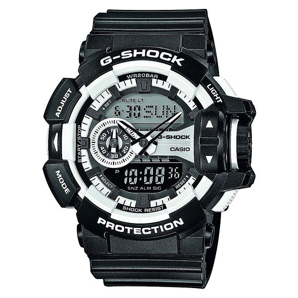 Часы Casio G-Shock Ga-400-1a Black/White casio g shock g classic ga 400 7a