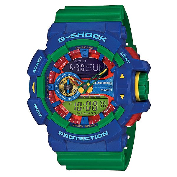 Часы Casio G-Shock Ga-400-2a Green/Blue moschino jeans брюки 5 карманов moschino jeans мq21607t4735 белый