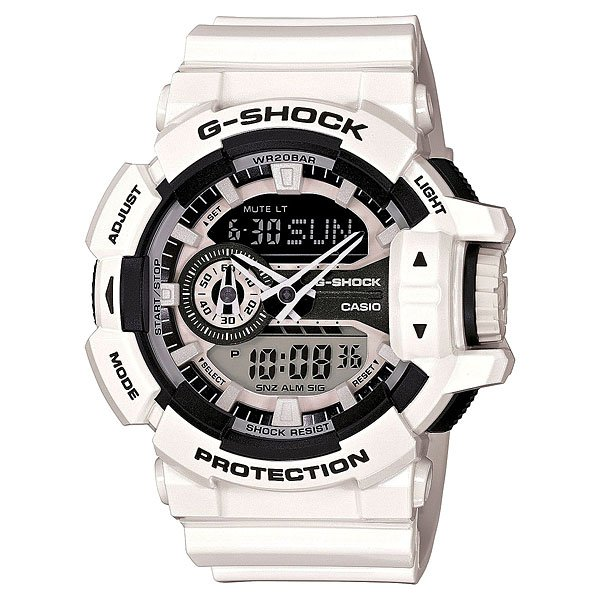 Часы Casio G-Shock Ga-400-7a White casio g shock ga 110tp 7a