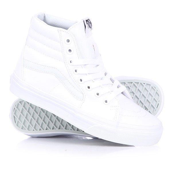 Кеды кроссовки высокие Vans Sk8 Hi True White кеды vans vee3wht white