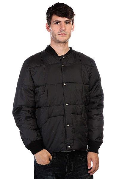 Куртка Quiksilver Bomber AnthraciteДополните свой образ новой курткой из осенней коллекции от культового бренда!  Преимущества:   Стандартный крой.  Металлические клепки.  Обработка воском и водостойкая пропитка.  Кожаная отделка.  Идеальное решение на каждый день!<br><br>Цвет: черный<br>Тип: Бомбер<br>Возраст: Взрослый<br>Пол: Мужской