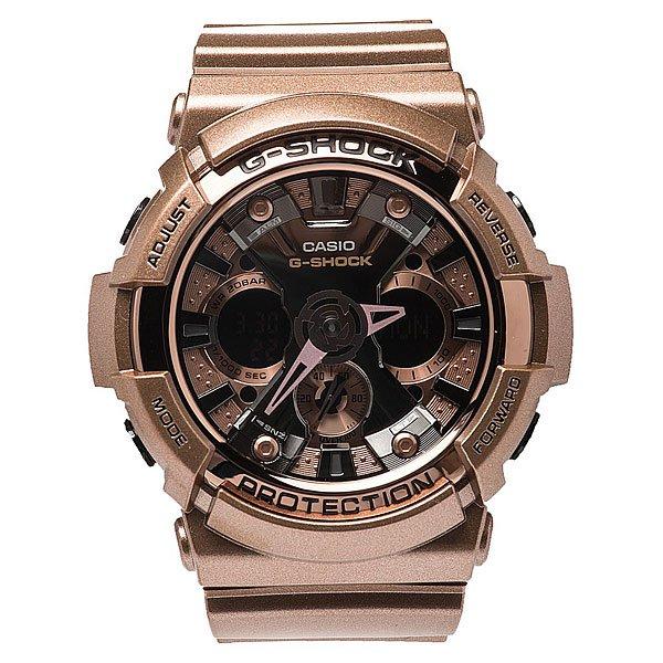 Часы Casio G-Shock Ga-200gd-9b BronzeХарактеристики: Светодиодная подсветка дисплея и стрелок. Ударопрочная конструкция защищает от ударов и вибрации. Функция мирового времени.Отображение времени: аналоговый + цифровой, формат 12/24 часа, секундная стрелка отсутствует.Таймер с минутной точностью и автоповтором. 5 ежедневных будильников, сигнал каждый час. Включение/выключение звука кнопок.   Индикатор запаса хода, второй часовой пояс, будильник. Вечный календарь, число, месяц, день недели.Прочное, устойчивое к царапинам минеральное стекло защищает часы от повреждений.Корпус из полимерного пластика и нержавеющей стали. Ремешок из полимерного материала. Водонепроницаемость (20 Бар/200 м). Защитная функция антимагнит – элемент питания CR1220.<br><br>Цвет: коричневый<br>Тип: Кварцевые часы<br>Возраст: Взрослый<br>Пол: Мужской