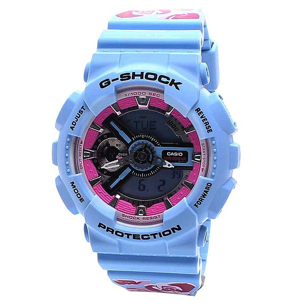 Часы женские Casio G-Shock Gma-s110f-2a Blue/Rose