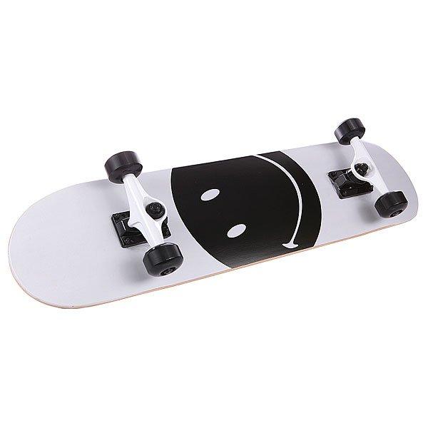 Скейтборд в сборе детский Fun4U Smiley Face White/Black 7.5 (19.1 См)