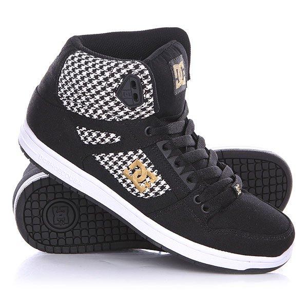 Кеды кроссовки высокие женские DC Rebound High Tx Se Black/White