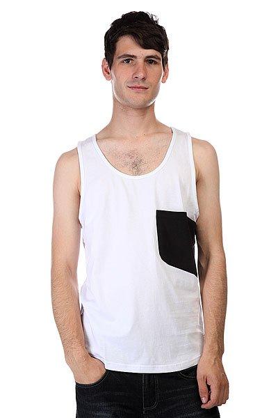 Майка CLWR Cut Tank White<br><br>Цвет: белый,черный<br>Тип: Майка<br>Возраст: Взрослый<br>Пол: Мужской
