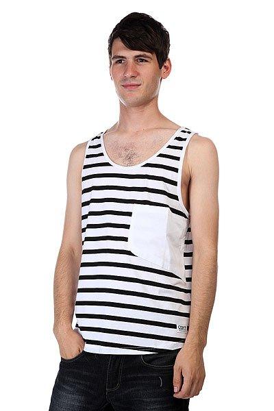 Майка CLWR Cut Tank Black Stripe<br><br>Цвет: белый,черный<br>Тип: Майка<br>Возраст: Взрослый<br>Пол: Мужской