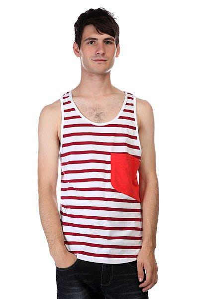 Майка CLWR Cut Tank Burgundy Stripe<br><br>Цвет: бордовый,белый,красный<br>Тип: Майка<br>Возраст: Взрослый<br>Пол: Мужской