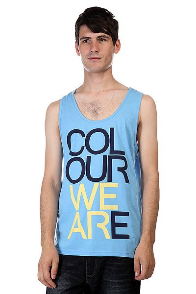 худи clwr clwr cl003emtqu27 Майка CLWR We Are Tank Pale Blue Melange
