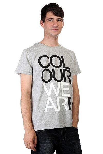 Футболка CLWR We Are Grey Melange<br><br>Цвет: серый<br>Тип: Футболка<br>Возраст: Взрослый<br>Пол: Мужской