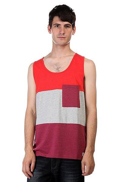 Майка CLWR Pouch Tank Burgundy Melange<br><br>Цвет: красный,серый,бордовый<br>Тип: Майка<br>Возраст: Взрослый<br>Пол: Мужской