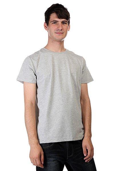 Футболка CLWR Solid Grey Melange<br><br>Цвет: серый<br>Тип: Футболка<br>Возраст: Взрослый<br>Пол: Мужской