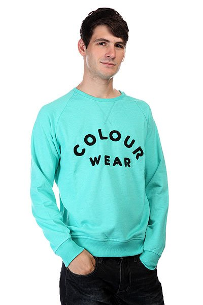 худи clwr clwr cl003emtqu27 Толстовка CLWR Colour Crew Florida Green Melange