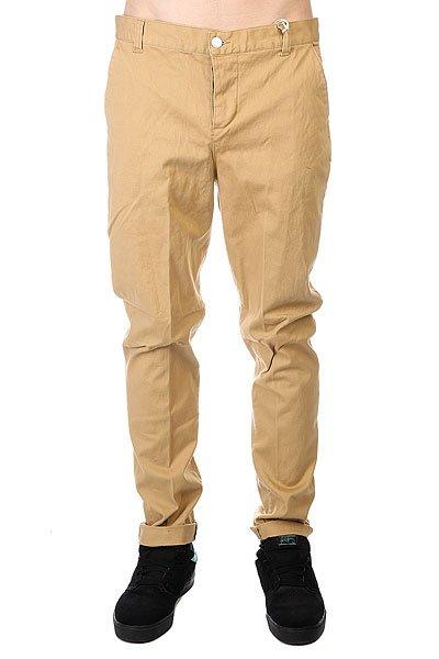 Штаны прямые CLWR Chino Camel<br><br>Цвет: бежевый<br>Тип: Штаны прямые<br>Возраст: Взрослый<br>Пол: Мужской