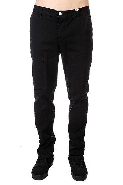 Штаны прямые CLWR Chino Black<br><br>Цвет: черный<br>Тип: Штаны прямые<br>Возраст: Взрослый<br>Пол: Мужской