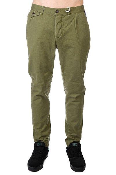 Штаны прямые CLWR Gubb Chino Loden<br><br>Цвет: зеленый<br>Тип: Штаны прямые<br>Возраст: Взрослый<br>Пол: Мужской