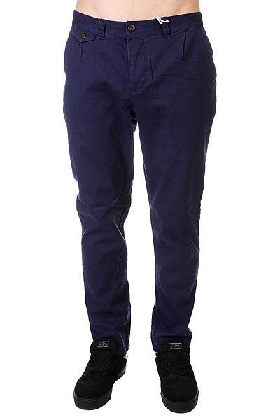 Штаны прямые CLWR Gubb Chino Patriot Blue