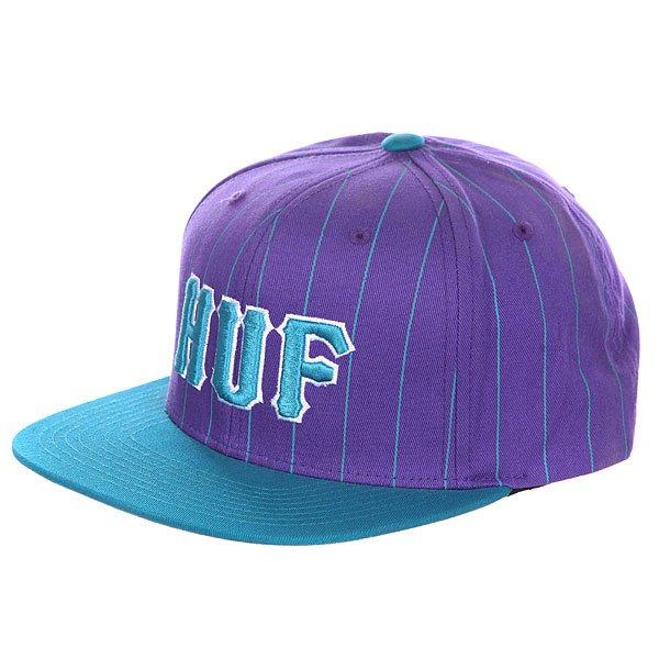 Бейсболка Huf Classic Pinstripe Starter Blue/Purple<br><br>Цвет: фиолетовый,голубой<br>Тип: Бейсболка с прямым козырьком<br>Возраст: Взрослый<br>Пол: Мужской