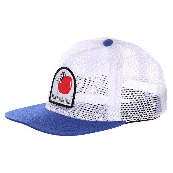 Бейсболка Huf Eden Snapback Royal<br><br>Цвет: синий,белый<br>Тип: Бейсболка с сеткой<br>Возраст: Взрослый<br>Пол: Мужской