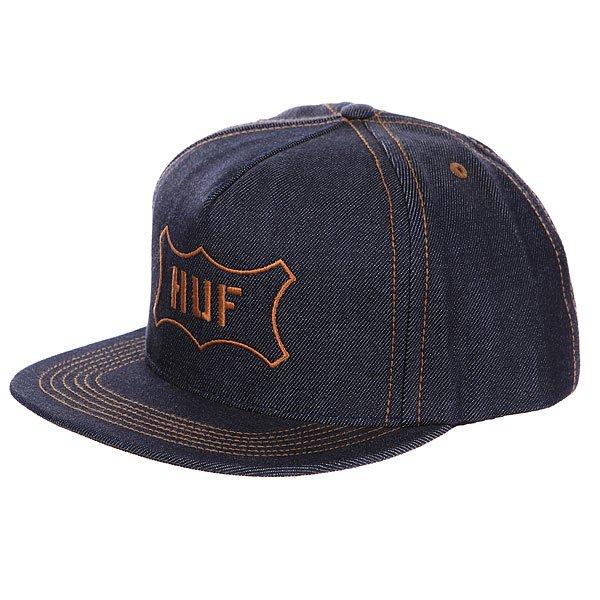 Бейсболка Huf Inside Snapback Out Denim<br><br>Цвет: синий<br>Тип: Бейсболка с прямым козырьком<br>Возраст: Взрослый<br>Пол: Мужской