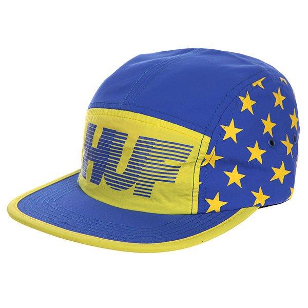 Бейсболка пятипанелька Huf Hell Track Volley Yellow/Blue<br><br>Цвет: синий,желтый<br>Тип: Бейсболка пятипанелька<br>Возраст: Взрослый