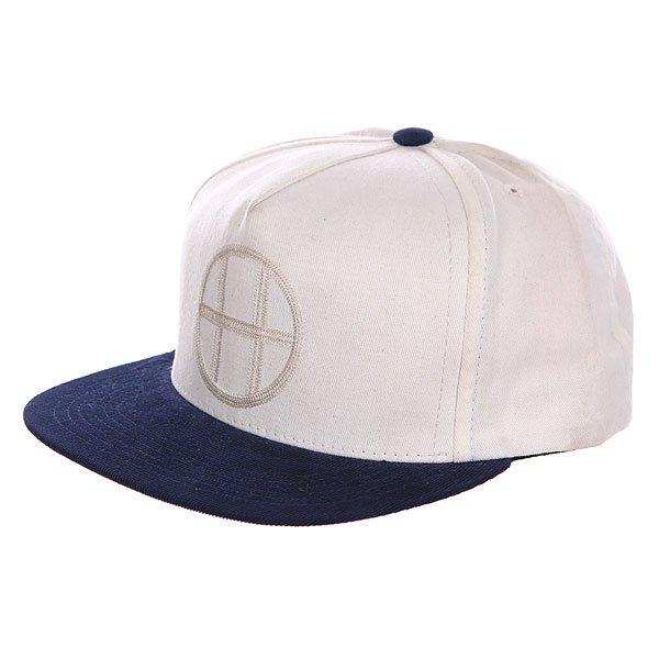 Бейсболка Huf Circle Vintage<br><br>Цвет: бежевый,синий<br>Тип: Бейсболка с прямым козырьком<br>Возраст: Взрослый<br>Пол: Мужской