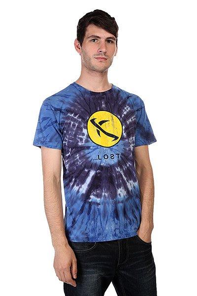 Футболка Lost Jimmy Rig Td Blue<br><br>Цвет: синий,желтый<br>Тип: Футболка<br>Возраст: Взрослый<br>Пол: Мужской