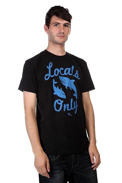 Футболка Lost Locals Only Black<br><br>Цвет: черный,голубой<br>Тип: Футболка<br>Возраст: Взрослый<br>Пол: Мужской