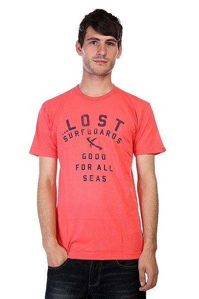Футболка Lost All Seas Coral<br><br>Цвет: розовый<br>Тип: Футболка<br>Возраст: Взрослый<br>Пол: Мужской