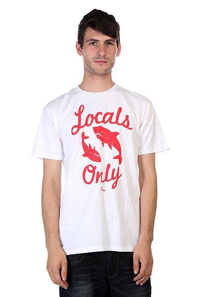 Футболка Lost Locals Only White<br><br>Цвет: белый<br>Тип: Футболка<br>Возраст: Взрослый<br>Пол: Мужской