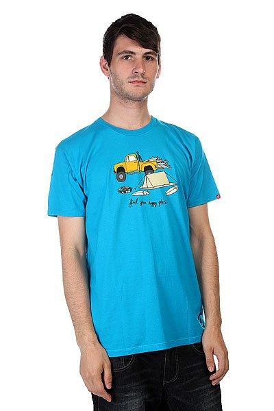 Футболка Lost Pup Tent Trq<br><br>Цвет: голубой<br>Тип: Футболка<br>Возраст: Взрослый<br>Пол: Мужской