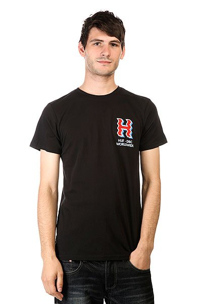 Футболка Huf Crooked H Tee Black crooked kingdom