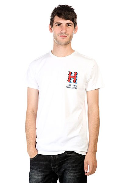 Футболка Huf Crooked H Tee White купить