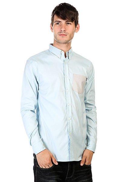 Рубашка Huf Rushmore Oxford Long Sleeve Shirt Blue<br><br>Цвет: голубой<br>Тип: Рубашка<br>Возраст: Взрослый<br>Пол: Мужской