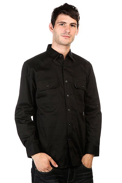 Рубашка Huf Potrero L/S Workshirt Black