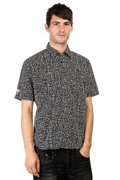 Рубашка Huf X Haze Woven Black<br><br>Цвет: белый,черный<br>Тип: Рубашка<br>Возраст: Взрослый<br>Пол: Мужской
