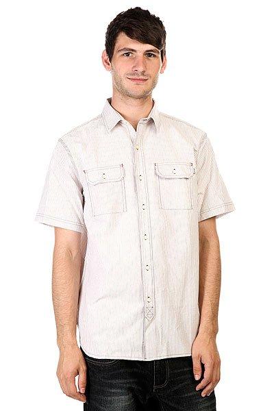 Рубашка Huf Hanover Short Sleeve Oxford Shirt White<br><br>Цвет: бежевый,белый<br>Тип: Рубашка<br>Возраст: Взрослый<br>Пол: Мужской