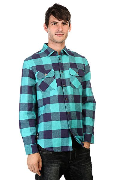Рубашка в клетку Huf Thompson Buffalo Flannel Navy/Jade