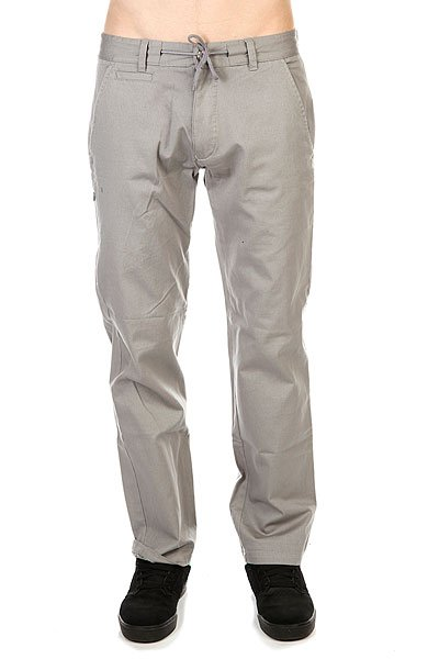Штаны прямые Huf Steadfast Chino Pant Grey штаны прямые billabong new order chino khaki