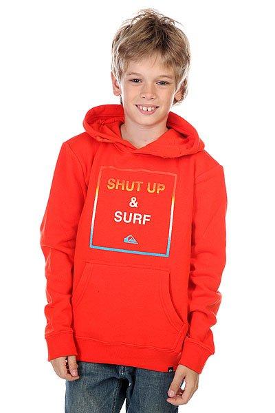 Кенгуру детское Quiksilver Hood Shut Up Youth Poinciana<br><br>Цвет: оранжевый<br>Тип: Толстовка кенгуру<br>Возраст: Детский
