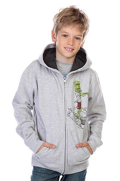 Толстовка детская Quiksilver Hood Zip Dead Loy Light Grey<br><br>Цвет: серый<br>Тип: Толстовка классическая<br>Возраст: Детский