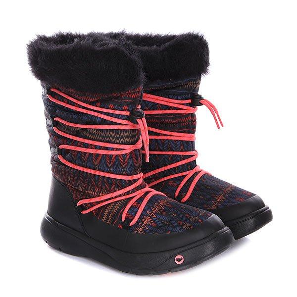Сапоги зимние женские Roxy Summit J Boot CharcoalОчень теплые, с влагонепроницаемым покрытием и шикарным внешним видом сапоги Roxy Summit уж точно не дадут вам замерзнуть или промочить ноги.Характеристики: Верх из влагонепроницаемого текстиля. Внутренняя отделка из искусственного меха.  Мягкая внутренняя стелька. Круглая шнуровка-ВОА. Гибкая подошва из терморезины с дополнительной прошивкой.<br><br>Цвет: черный,розовый<br>Тип: Сапоги зимние<br>Возраст: Взрослый<br>Пол: Женский