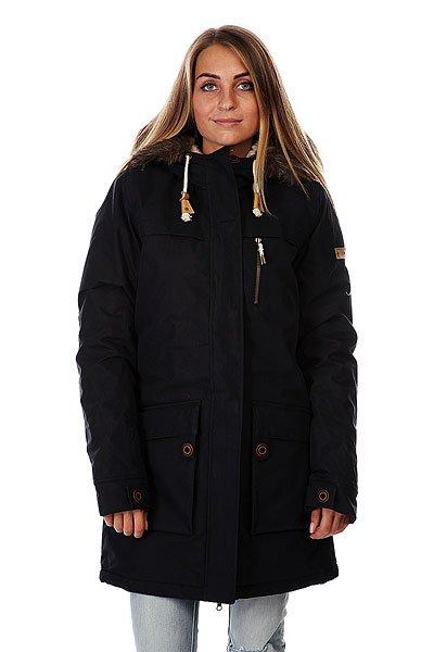Куртка парка женская Roxy Louise Jckt True BlackЖенская куртка-парка, которая подойдет как для катания на снежных склонах, так и в городских условиях.  Технические характеристики: Мембрана Dry Flight 5K, водостойкость 5 000 мм, дышащие свойства 5 000 г/кв. м. Утеплитель 3M™ Thinsulate™ type KK™ 240 г (тело) / 180 г (рукава) / 180 г (капюшон). Состав: 100% полиэстер. Подкладка из шерпы и тафты.  Критические швы проклеены. Штормостойкая конструкция. Два нагрудных кармана. Карманы для рук с верхним и боковым доступом. Капюшон со съемной меховой оторочкой. Фасон: парка (parka).<br><br>Цвет: черный<br>Тип: Куртка парка<br>Возраст: Взрослый<br>Пол: Женский