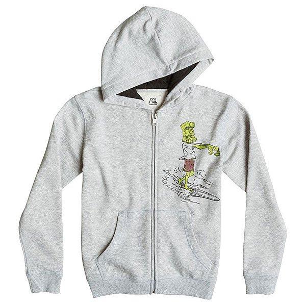 Толстовка детская Quiksilver Hood Zip Dead Loy Light Grey