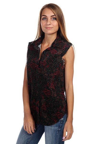 Блузка женская Insight Blood Roses Shirt Blood<br><br>Цвет: черный,бордовый<br>Тип: Блузка<br>Возраст: Взрослый<br>Пол: Женский