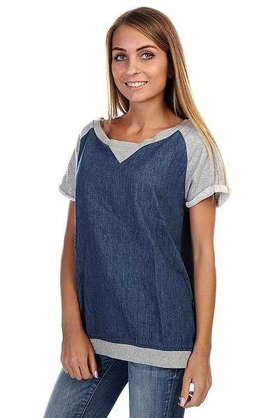 Футболка женская Insight Denim Diaries Top Light Grey Marle