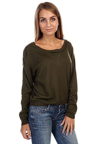 Свитшот женский Insight Loved Knit Camo Green<br><br>Цвет: зеленый<br>Тип: Толстовка классическая<br>Возраст: Взрослый<br>Пол: Женский